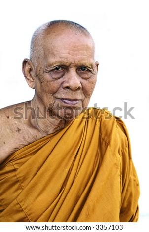 Thai monk. - stock photo