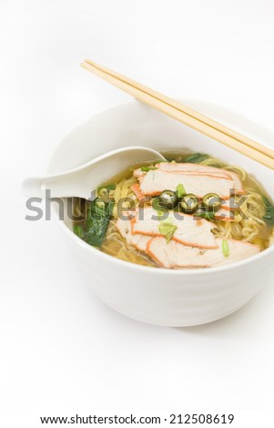 Thai noodle on white background