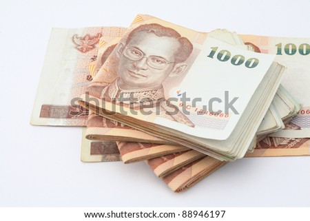 Thai notes 1000 Baht. - stock photo