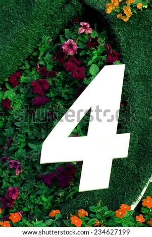 Thai Numbers - stock photo