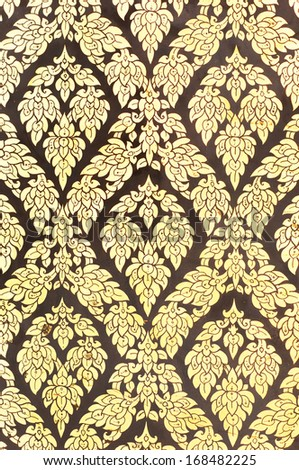 Thai old style pattern background