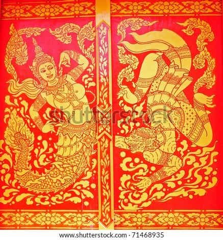 thai  painting art - stock photo
