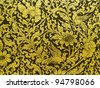 Thai painting on fabric gold. - stock photo