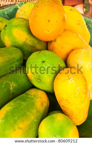 Thai papaya for your good health. - stock photo