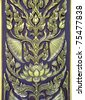 Thai pattern background - stock photo