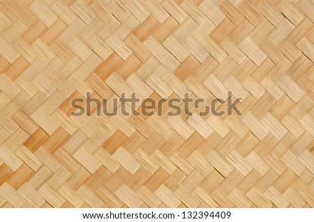 Thai pattern bamboo handcraft