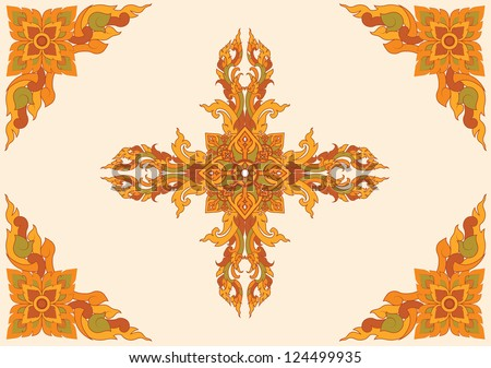 Thai pattern can be apply for tattoo ,pattern or background