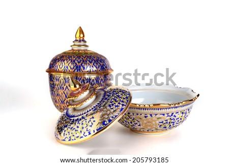 Thai pattern cups - stock photo