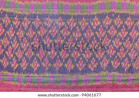 Thai pattern fabric