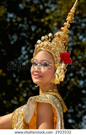 Thai performer - stock photo