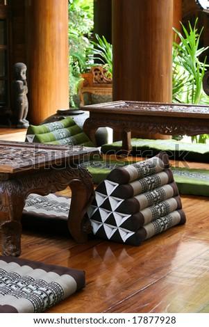 Thai Pillows Furniture Travel Tourism Stock Photo & Image (Royalty ...