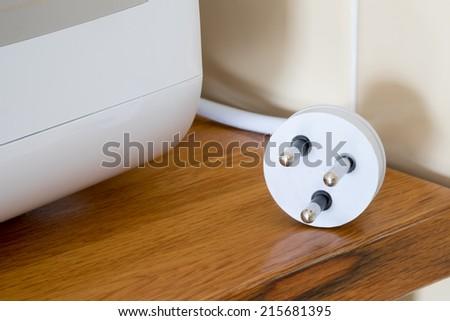 Thai 3 pin plug  - stock photo