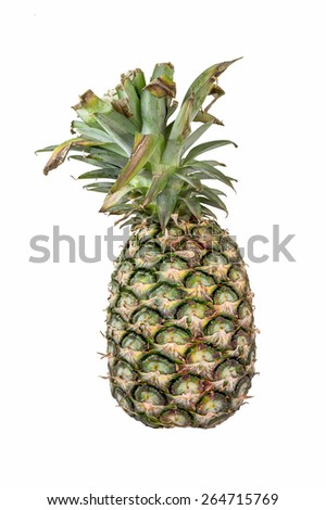 Thai pine apple isolated on white background - stock photo