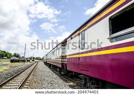 Thai public train  - stock photo