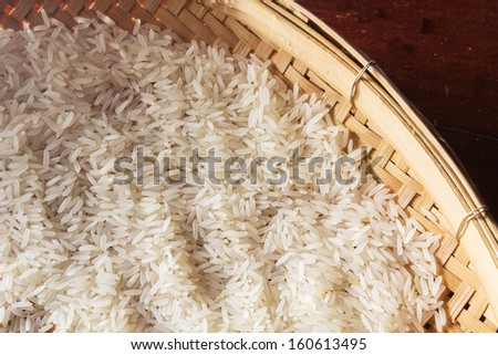 Thai raw rice. - stock photo