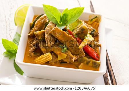 thai red curry - stock photo