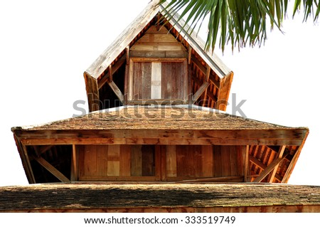 thai roof with white background northern art in Thailand.