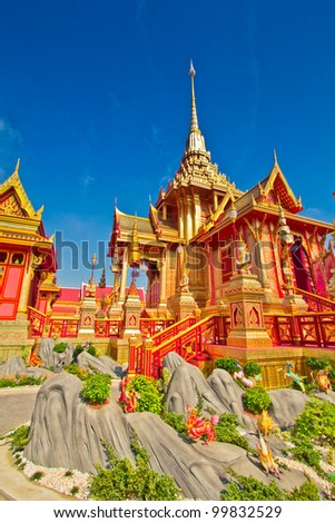 Thai royal funeral in bangkok thailand - stock photo