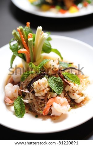 thai salad - stock photo