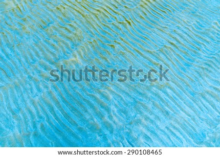 Thai Sandy beach natural background. Detailed sand texture. Top view - stock photo
