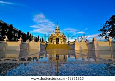 Thai shrine in Pattani, Thailand - stock photo
