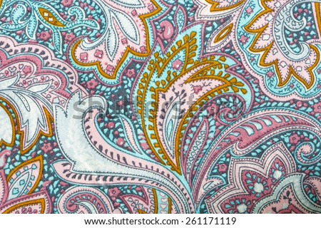 Thai silk fabric pattern - stock photo