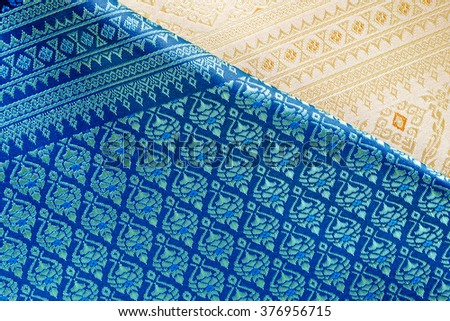 Thai silk fabric pattern