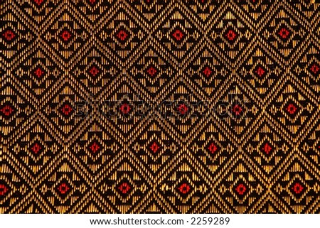 Thai silk textile accent pattern - stock photo