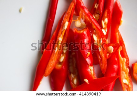 Thai spicy food ingredients with toned color and selective focus