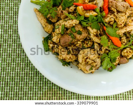Thai Spicy meat salad