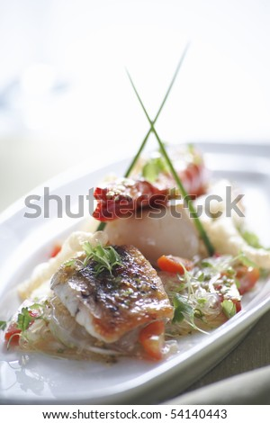 Thai spicy seafood and vermicelli salad - stock photo
