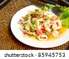 Thai spicy seafood salad - stock photo