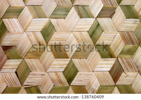 Thai-style bamboo basketry wooden texture - stock photo