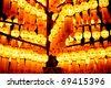 thai style decoration lamp in the celebration ceremony - stock photo