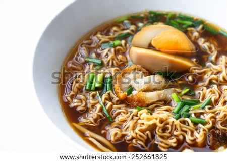 Thai style Instant noodles - stock photo