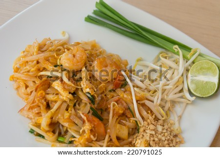Thai style noodles or padthai
