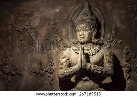 Thai style wall sculpture
