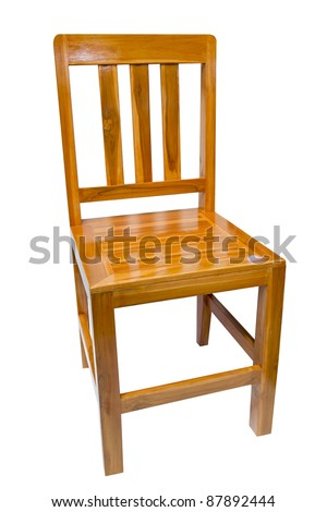 Thai-style wooden chairs. - stock photo