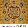 Thai temple ceiling decoration - stock photo