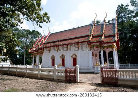 Thai temple church - stock photo