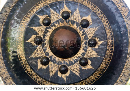 Thai temple gong - stock photo