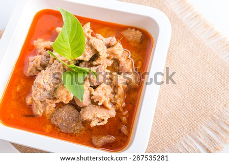Thai traditional food Red Curry Panang - stock photo