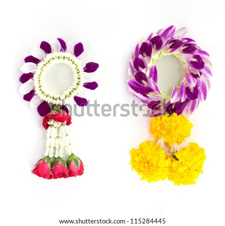Thai traditional orchid garland style - stock photo