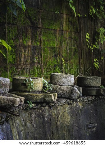 Thai traditional stone mill