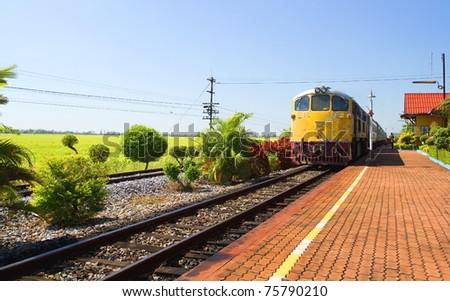 Thai train - stock photo