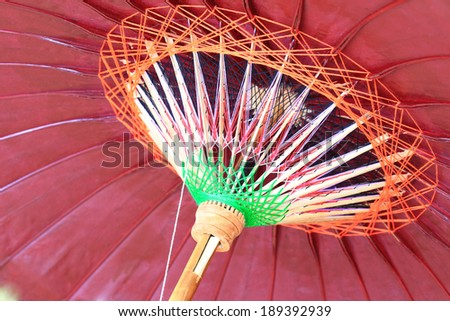 Thai umbrella - stock photo