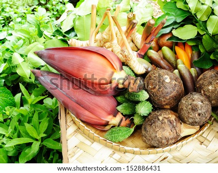 thai vegetables and herb