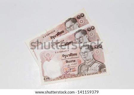 Thai vintage baht banknote - stock photo