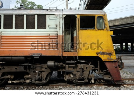 Thai vintage train - stock photo