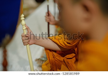 thai wedding monk